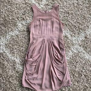 Delicate mauve draped dress with sheer straps, SM